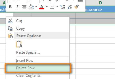 Hướng dẫn cách xóa những dòng trống dữ liệu trong Excel