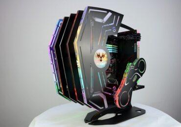 Ngắm nhìn PC độ phong cách 7 sắc cầu vồng
