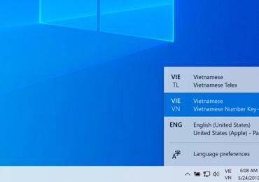Cách bật bộ gõ tiếng Việt TELEX và VNI cho Windows 10