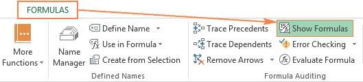 Cách hiển thị tất cả các công thức trên Microsoft Excel