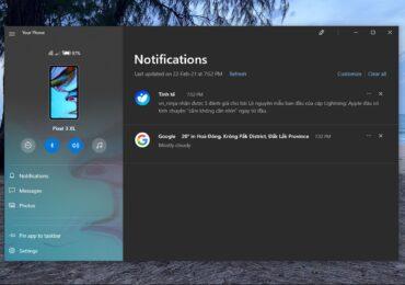 Hướng dẫn bật tắt bluetooth, volume, Music điện thoại Android ngay trên Win 10