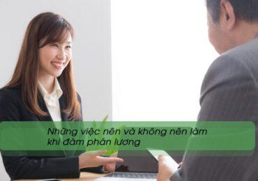 Những việc nên và không nên làm khi đàm phán lương